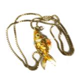 №a803 Кулон Золотая Рыбка